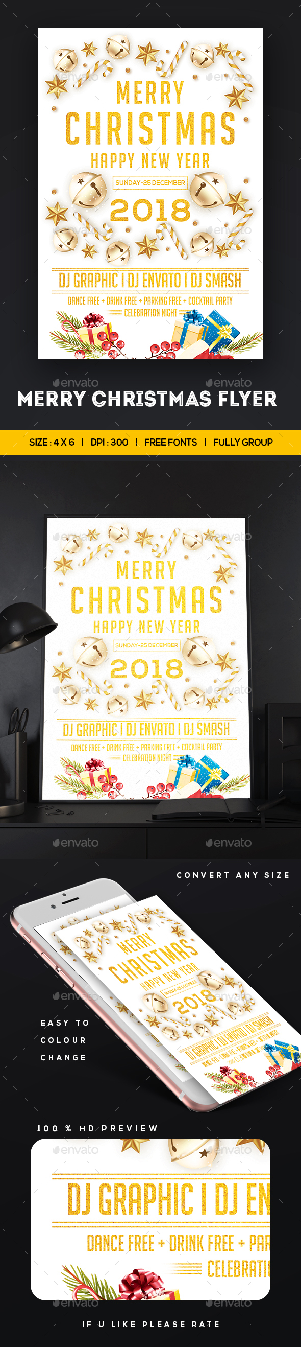 GraphicRiver Merry Christmas Flyer 21123498