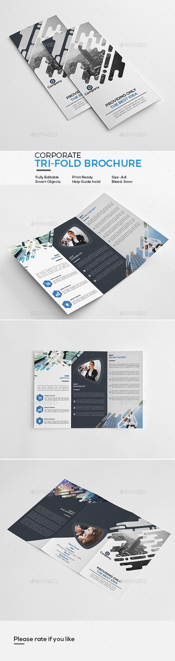 GraphicRiver Corporate Tri-Fold Brochure 21123527
