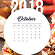Wall Calendar 2018 Meal - GraphicRiver Item for Sale
