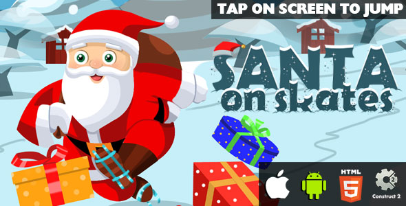 Santa On Skates - HTML5 Game (CAPX) - CodeCanyon Item for Sale