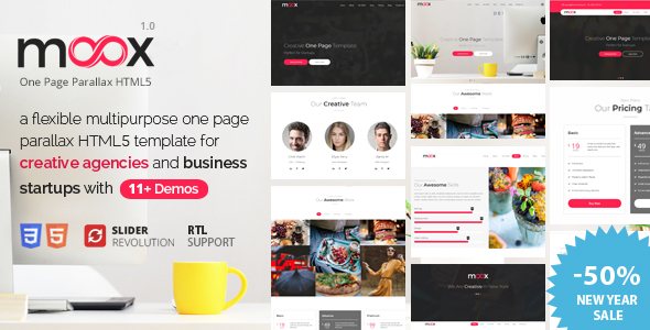 Meox - One Page Parallax