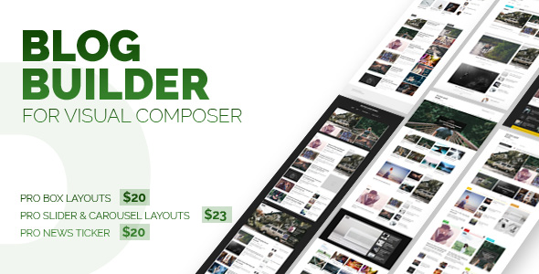 CodeCanyon Blog Builder For Visual Composer 21123724