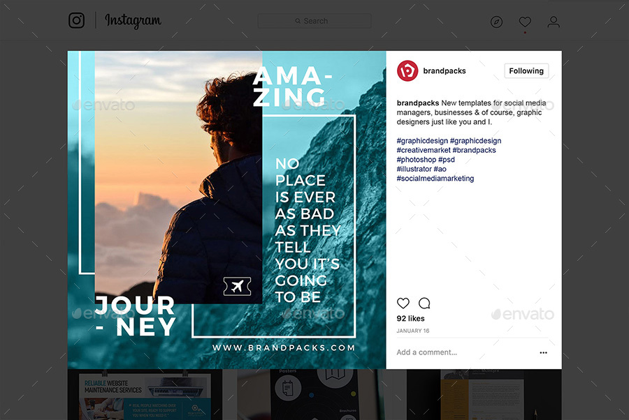 Travel Social Media Templates By Brandpacks Graphicriver
