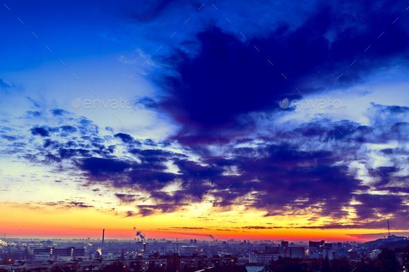 Orange sunset - Stock Photo - Images
