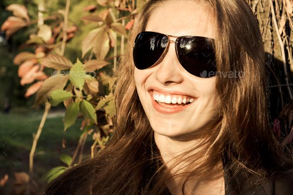 Beautiful girl smiling - Stock Photo - Images