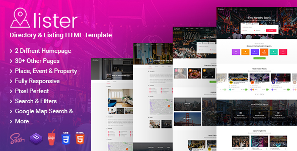 Image of Lister - Directory & Listings HTML Template