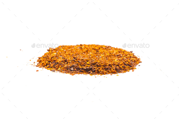 Dried red pepper flakes - Stock Photo - Images