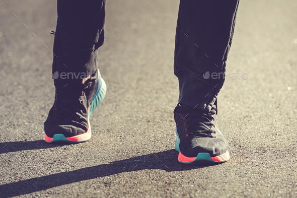 Runner athlete legs - Stock Photo - Images