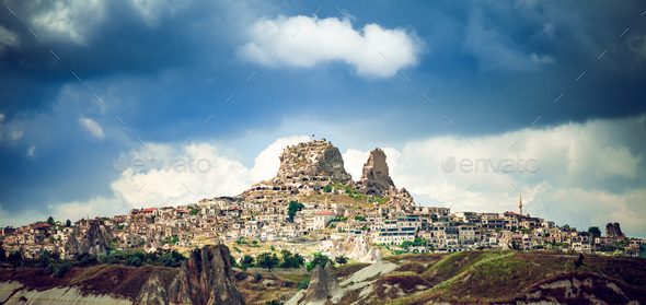 Cappadocia Ancient town in Turkey - Stock Photo - Images