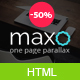 Maxo - One Page Parallax - ThemeForest Item for Sale