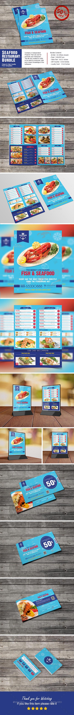 Seafood Restaurant Bundle - Food Menus Print Templates