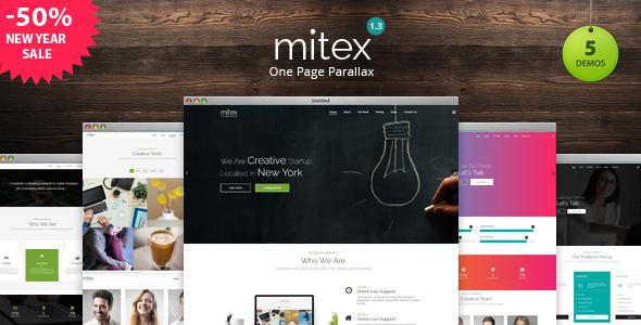 Mitex - One Page Parallax