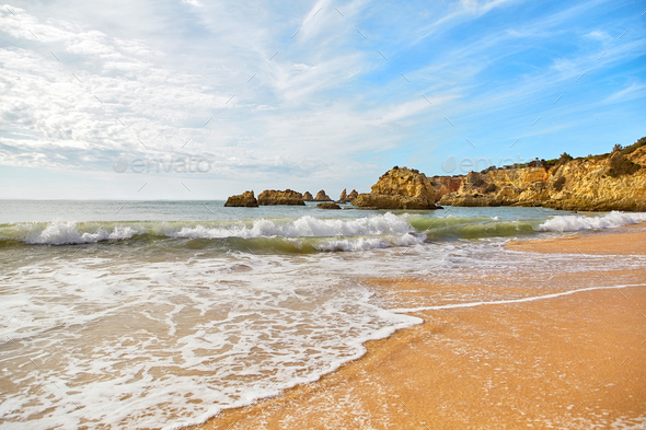 Beach of Algarve, Portugal - Stock Photo - Images