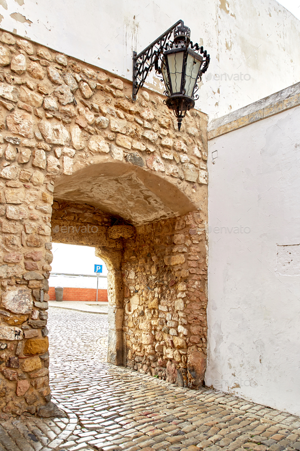 Gateway to nature park of Ria Formasa in Faro city - Stock Photo - Images