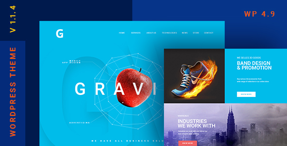 Gravitify | Multipurpose Business WordPress Theme - Business Corporate