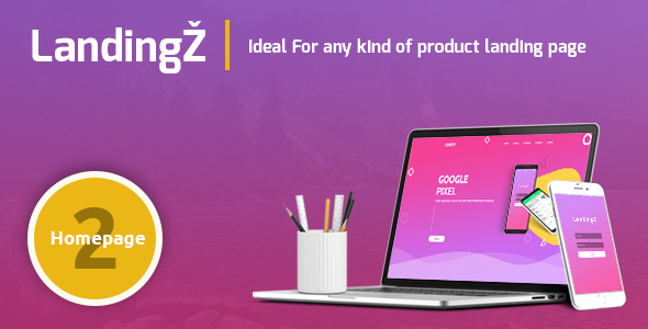 Landingz – One Page App and Product Landing Html Template - Marketing Corporate