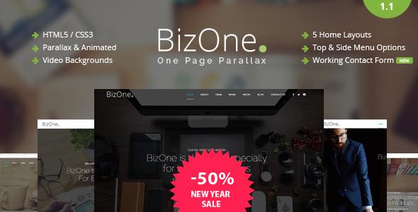 BizOne - One Page Parallax