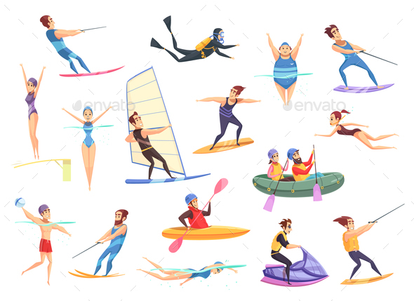 GraphicRiver Water Sports Set 21123951