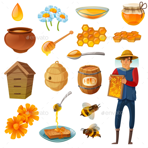 GraphicRiver Honey Cartoon Set 21123971