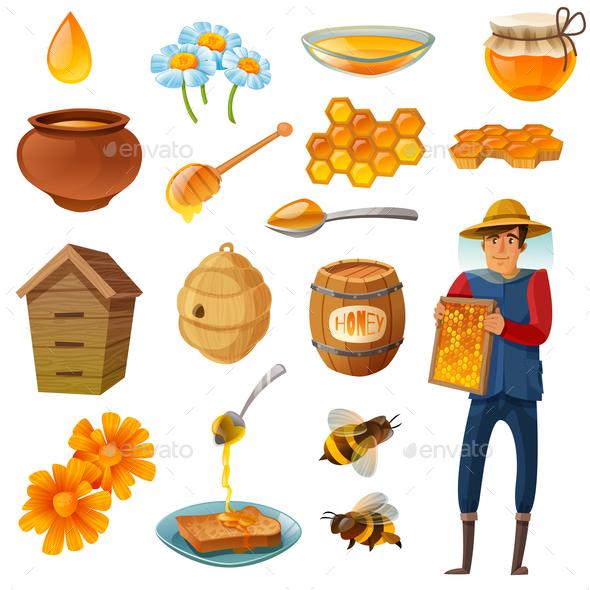 Honey Cartoon Set - Animals Characters