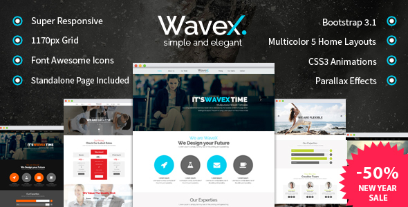 WaveX - One Page Parallax