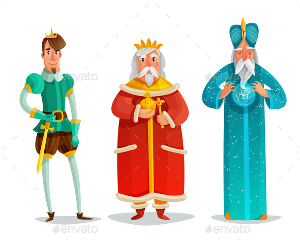 GraphicRiver Royal Characters Cartoon Set 21123973