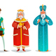 Royal Characters Cartoon Set