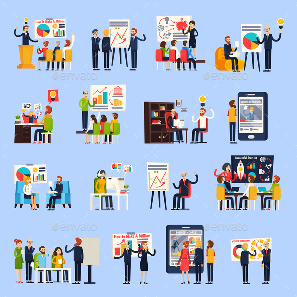 GraphicRiver Business Coaching Orthogonal People 21123977