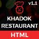 Khadok Restaurant - Restaurant Responsive HTML5 Template