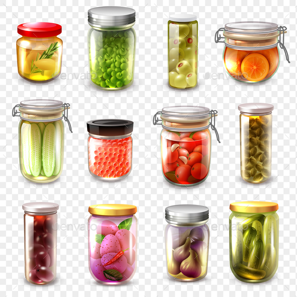 Canned Goods Set Transparent Background - Food Objects