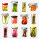 Canned Goods Set Transparent Background - GraphicRiver Item for Sale