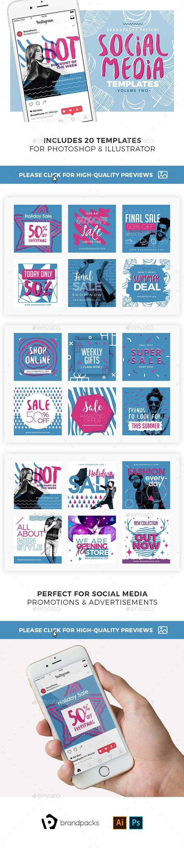 GraphicRiver Instagram Templates Pack 21124055