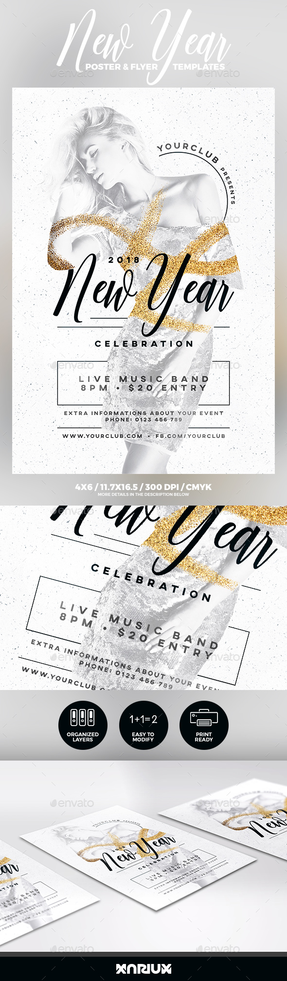GraphicRiver New Year Party Flyer & Poster 21124060