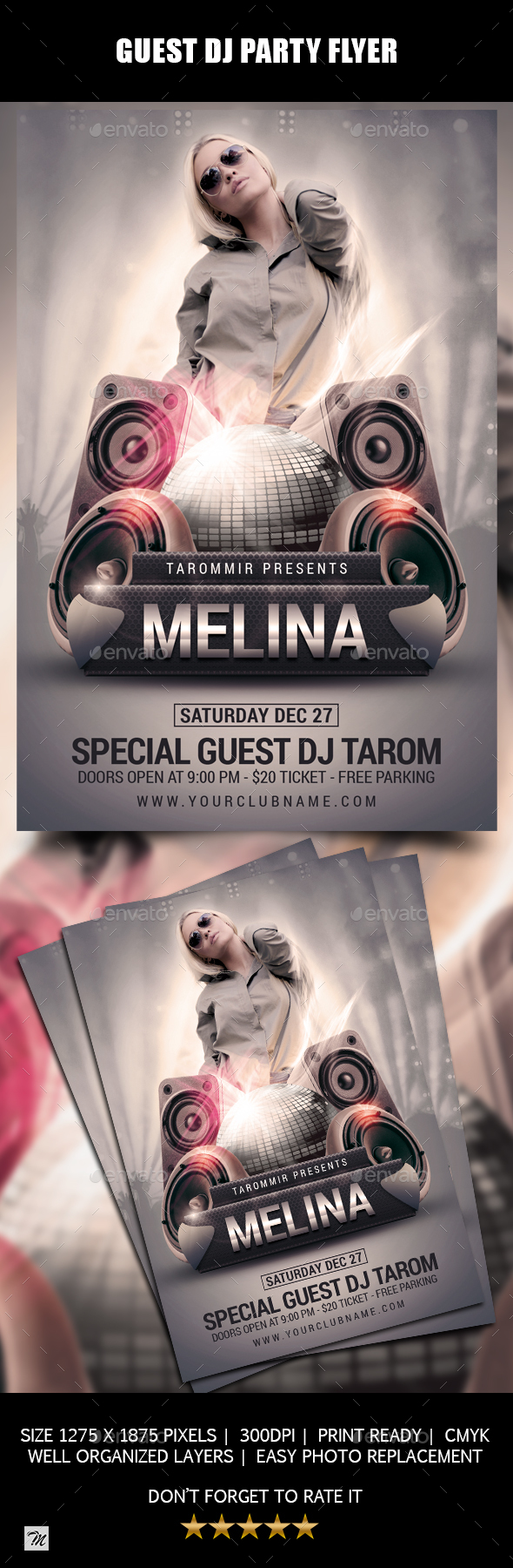 GraphicRiver Guest DJ Party Flyer 21122857