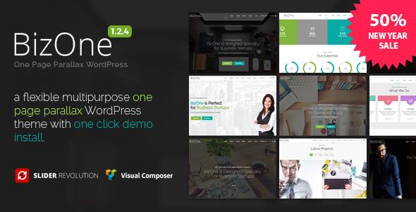BizOne - One Page WordPress