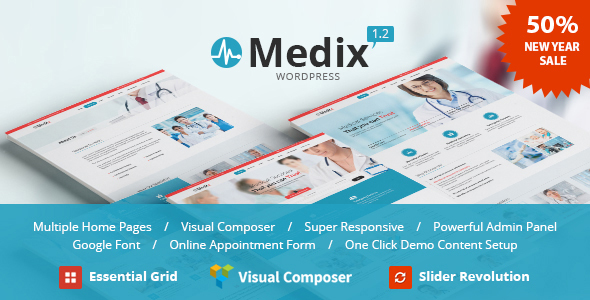 Medix - Health and Medical WordPress - Health & Beauty Retail