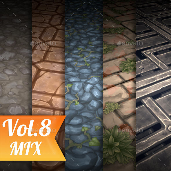 3DOcean Stone Tile Vol.8 Hand Painted Texture Pack 21124412