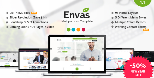 Envas - Multipurpose HTML5 Template