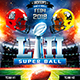 American Football Super Ball Flyer vol.6 - GraphicRiver Item for Sale
