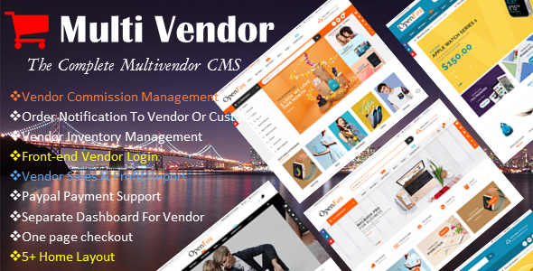 Ecommerce Multi-Vendor Website Builder - The Complete Multi-vendor CMS - CodeCanyon Item for Sale