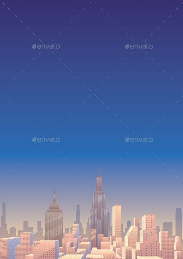 Cityscape Vertical 3 - Buildings Objects