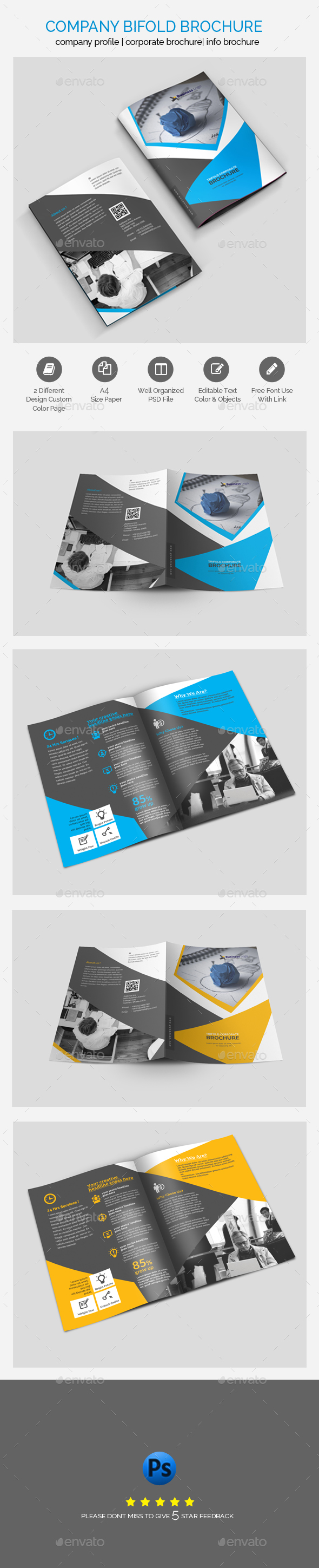 GraphicRiver Professional Business Bifold Brochure Template Design 21124572