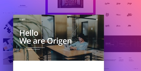 Origen - Modern Portfolio WordPress Theme for Freelancers & Agencies