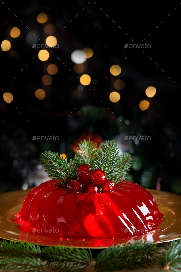 Red Christmas Jelly - Stock Photo - Images