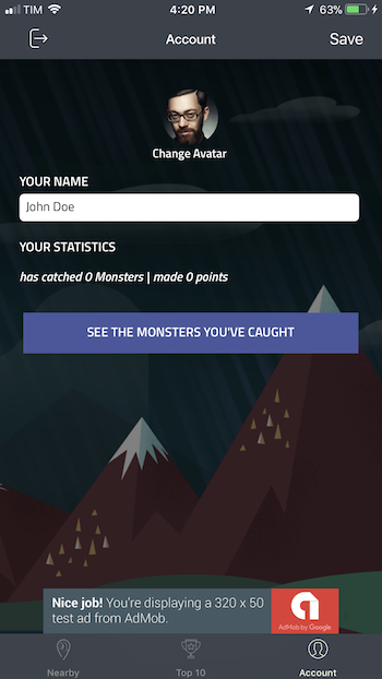 Catch The Monsters | iOS Universal Geolocation Game Template (Swift)