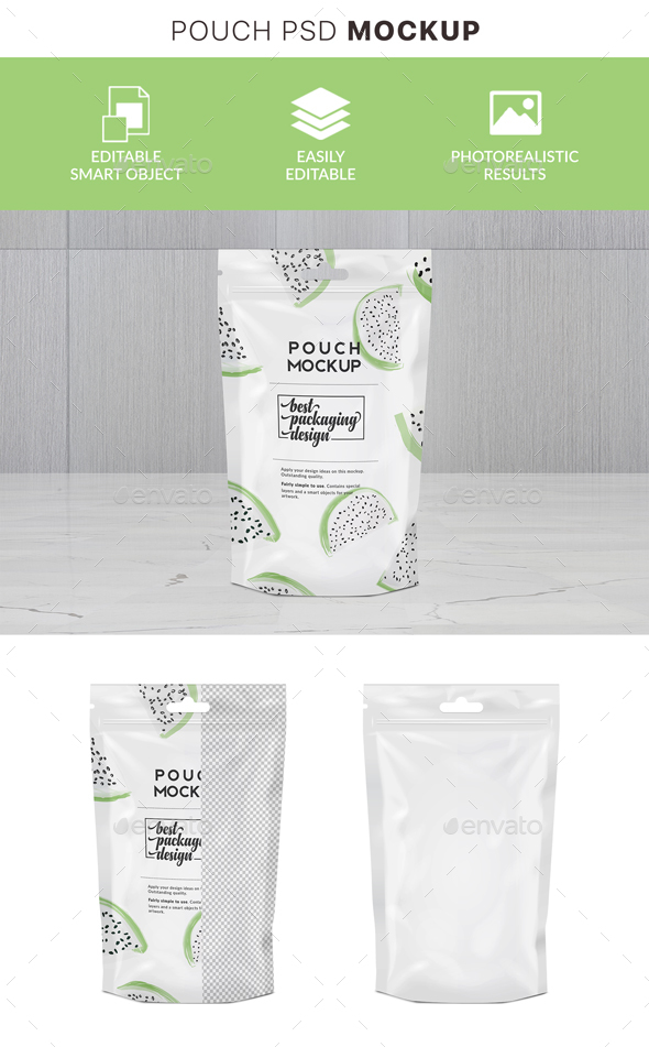 GraphicRiver Doypack Mockup with Zipper 21121416