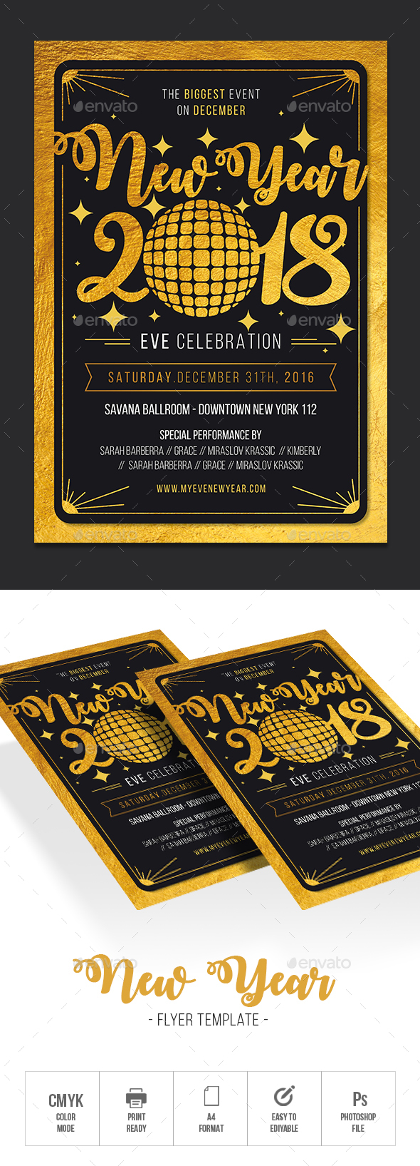 GraphicRiver New Year Party Flyer 21124620