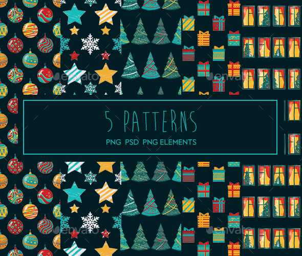 GraphicRiver Christmas Patterns 21124643