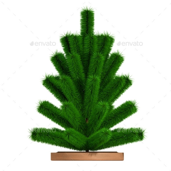 GraphicRiver Small Christmas Tree 3D Render 21124679