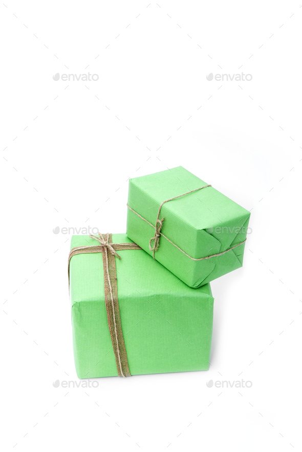 Christmas presents isolated - Stock Photo - Images